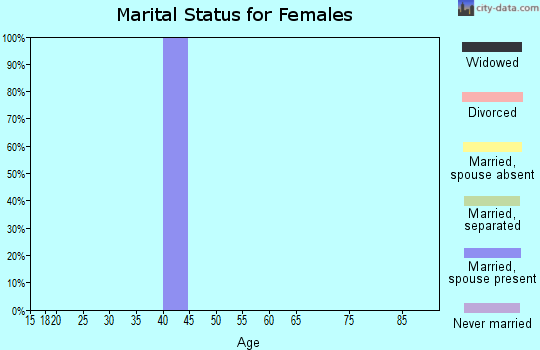 Zip code 26684 marital status for females