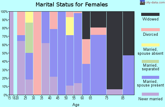 Zip code 26717 marital status for females
