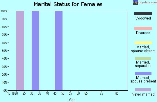 Zip code 26720 marital status for females