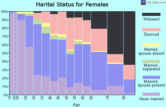 Zip code 27127 marital status for females