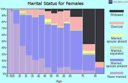 Zip code 27513 marital status for females
