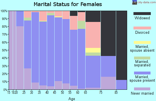 Zip code 27540 marital status for females