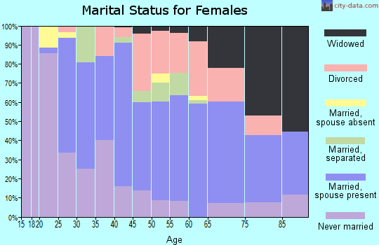 Zip code 27856 marital status for females