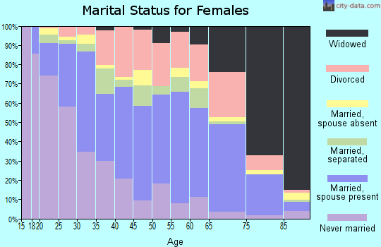 Zip code 28054 marital status for females