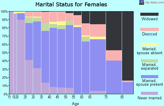 Zip code 28056 marital status for females