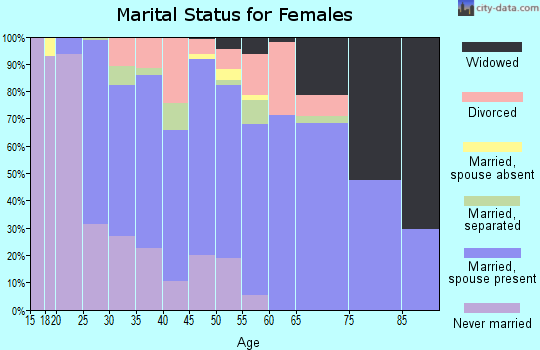 Zip code 28278 marital status for females