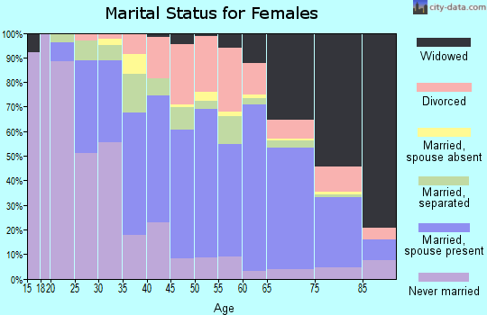 Zip code 28379 marital status for females