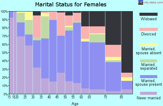 Zip code 28387 marital status for females