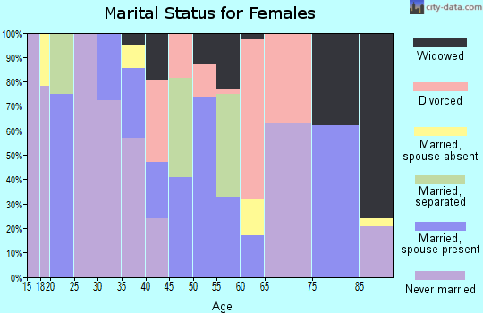 Zip code 28430 marital status for females