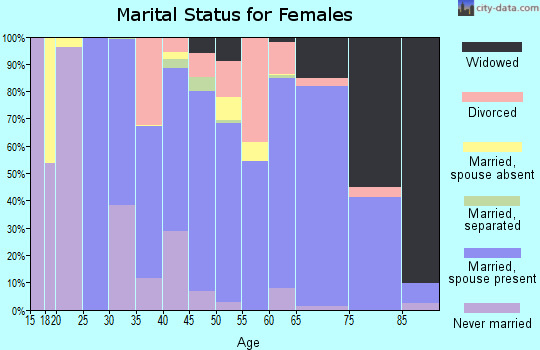 Zip code 28467 marital status for females