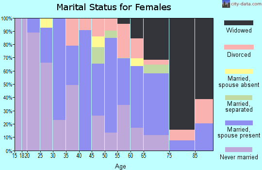 Zip code 28478 marital status for females
