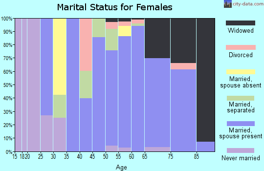 Zip code 28571 marital status for females