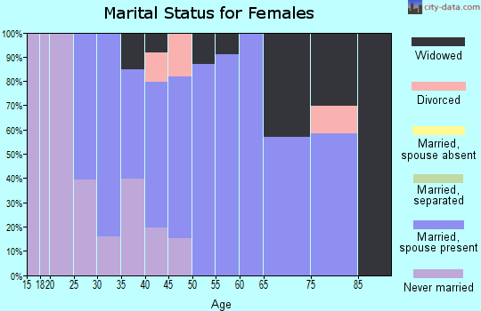 Zip code 28615 marital status for females