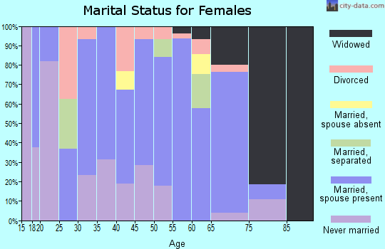 Zip code 28651 marital status for females