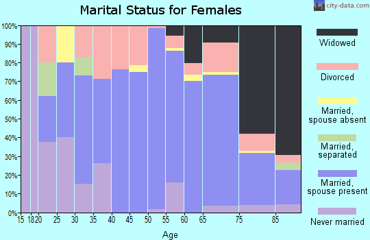 Zip code 28675 marital status for females