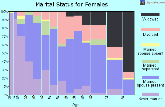 Zip code 28711 marital status for females