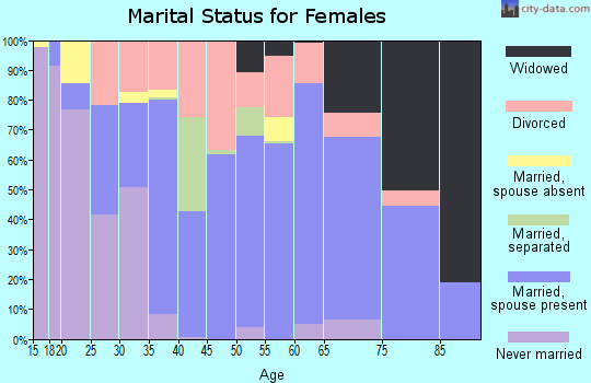Zip code 28721 marital status for females
