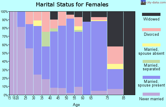 Zip code 28730 marital status for females