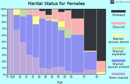 Zip code 28732 marital status for females