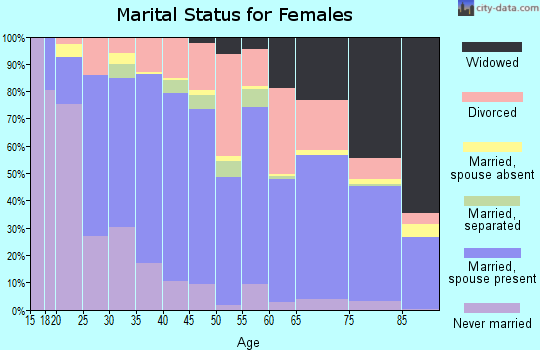 Zip code 28792 marital status for females