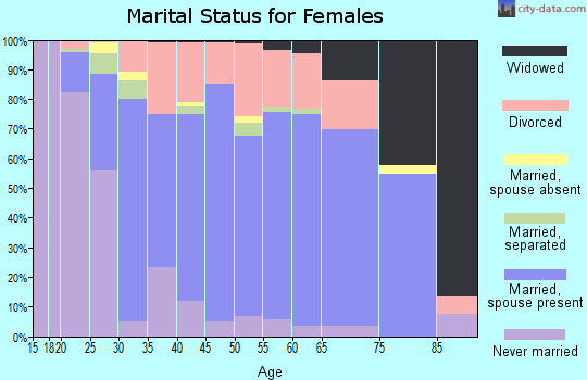 Zip code 29063 marital status for females