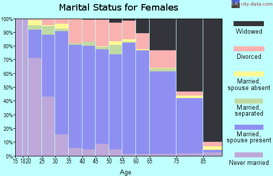 Zip code 29072 marital status for females