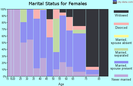 Zip code 29137 marital status for females