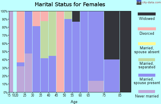 Zip code 29145 marital status for females