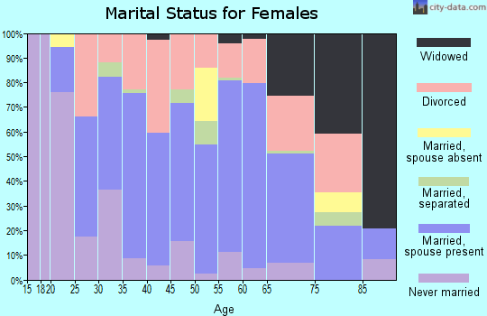 Zip code 29160 marital status for females