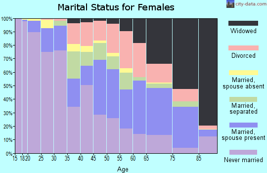 Zip code 29203 marital status for females