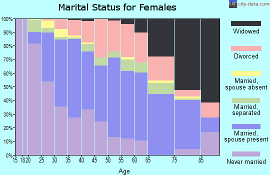 Zip code 29209 marital status for females