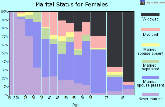 Zip code 29303 marital status for females