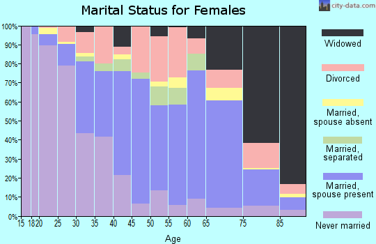 Zip code 29325 marital status for females
