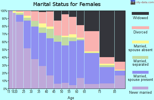 Zip code 29340 marital status for females
