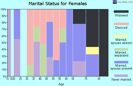 Zip code 29364 marital status for females