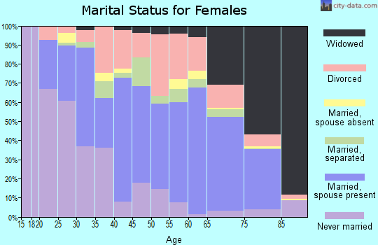 Zip code 29379 marital status for females