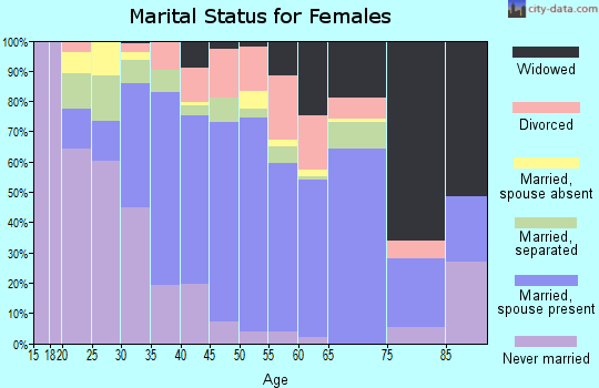Zip code 29420 marital status for females