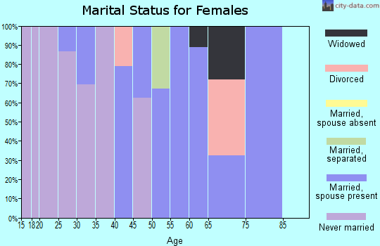 Zip code 29439 marital status for females