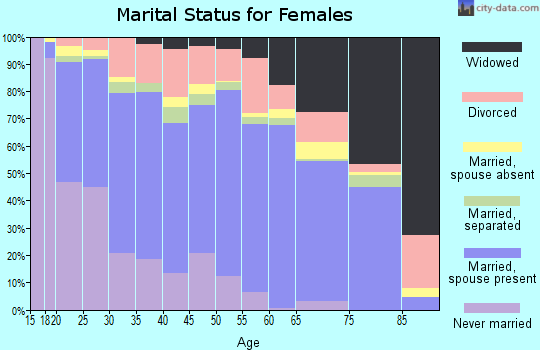 Zip code 29445 marital status for females