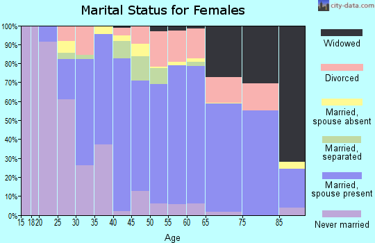 Zip code 29455 marital status for females