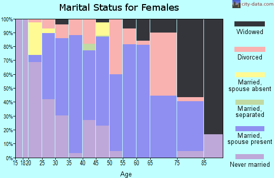 Zip code 29511 marital status for females