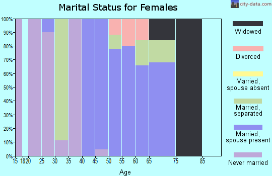 Zip code 29516 marital status for females