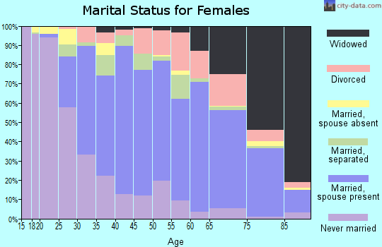 Zip code 29526 marital status for females