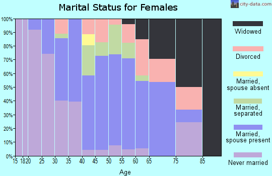 Zip code 29541 marital status for females