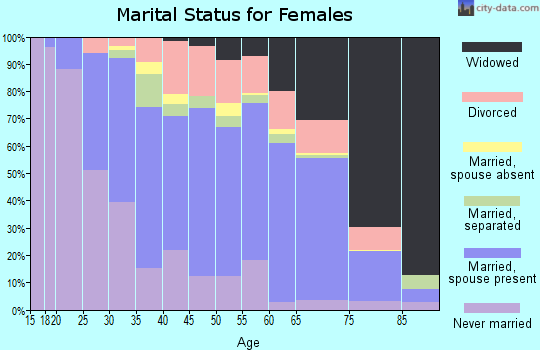Zip code 29550 marital status for females