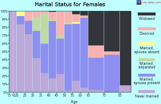 Zip code 29568 marital status for females