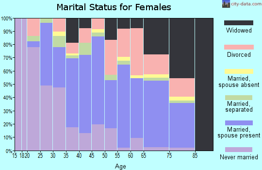 Zip code 29569 marital status for females
