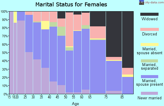 Zip code 29575 marital status for females