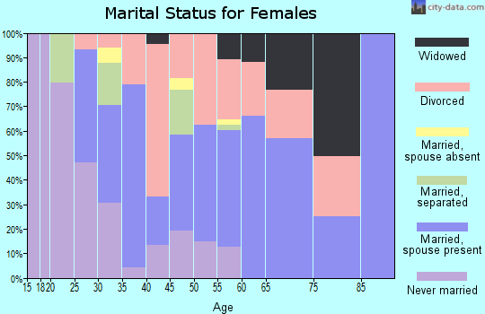 Zip code 29581 marital status for females