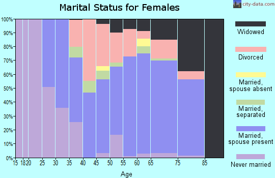 Zip code 29585 marital status for females